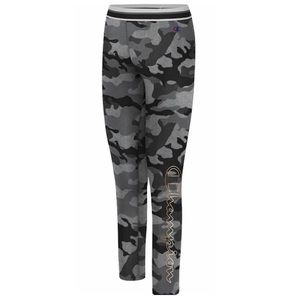 Champion Camo Pattern Leggings Black Gold Grey XL